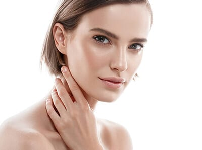 young woman aesthetics clean skin attractive